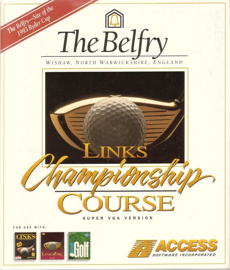 Links: Championship Course - The Belfry DOS Front Cover