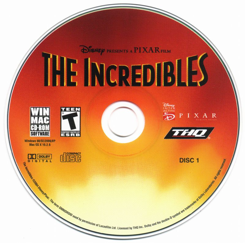 The Incredibles Macintosh Media Disc 1/2