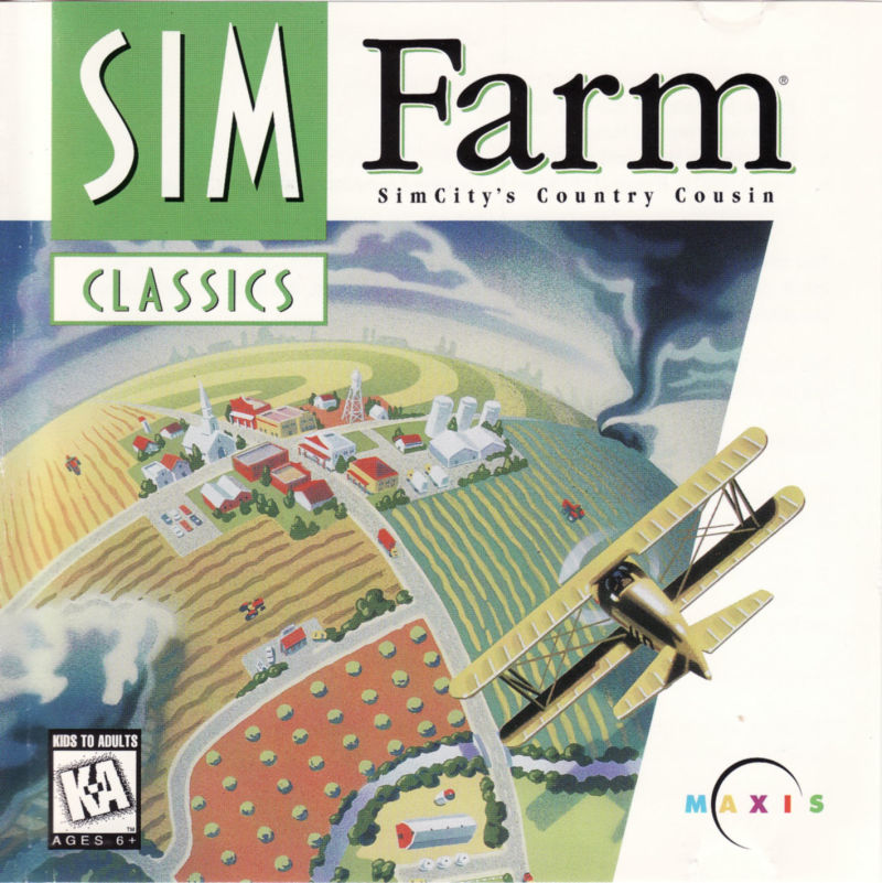 SimFarm DOS Other Jewel case front