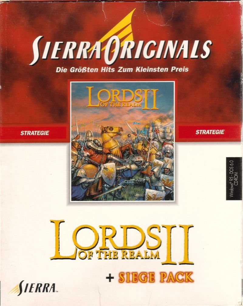 Lords of the Realm II + Siege Pack DOS Front Cover