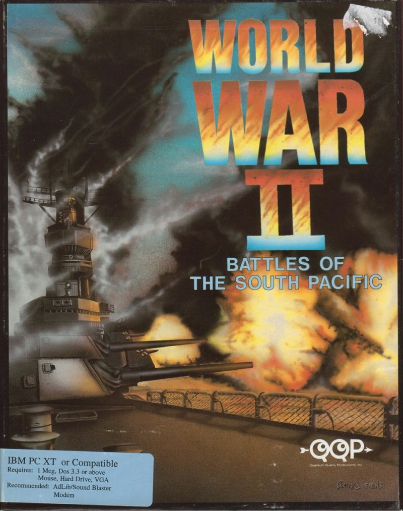 World War II: Battles of the South Pacific (1993) DOS box