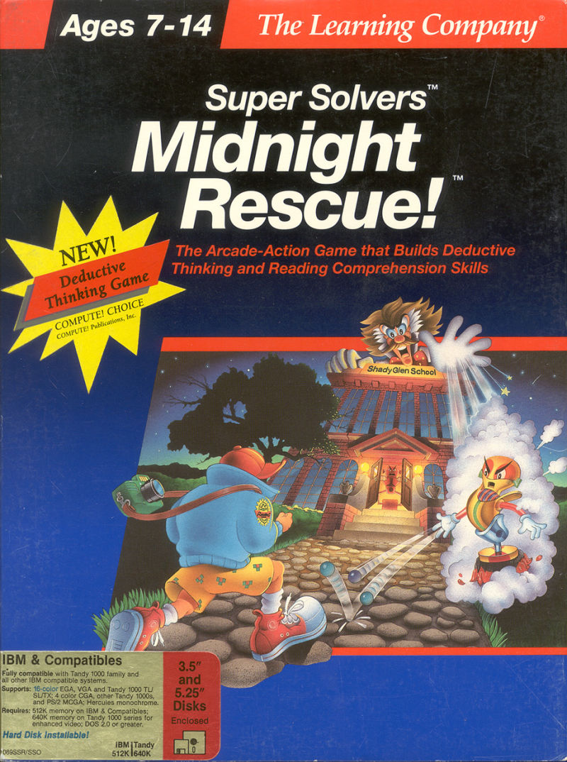 Super Solvers: Midnight Rescue! DOS Front Cover