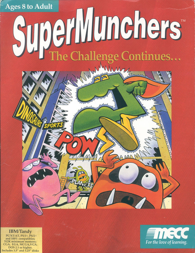 Super Munchers: The Challenge Continues... DOS Front Cover