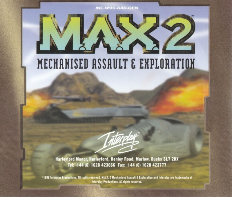 M.A.X. 2: Mechanized Assault & Exploration Windows Other Jewel Case - Back