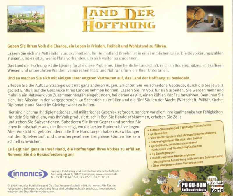 Land der Hoffnung Windows Other Jewel Case - Back