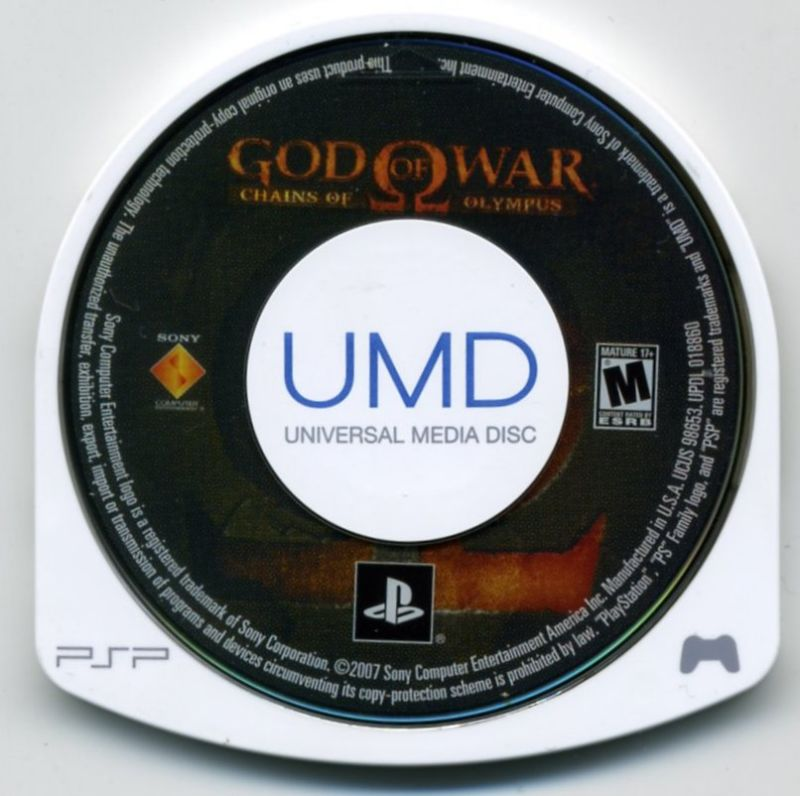 God of War: Chains of Olympus (2008) PSP box cover art - MobyGames