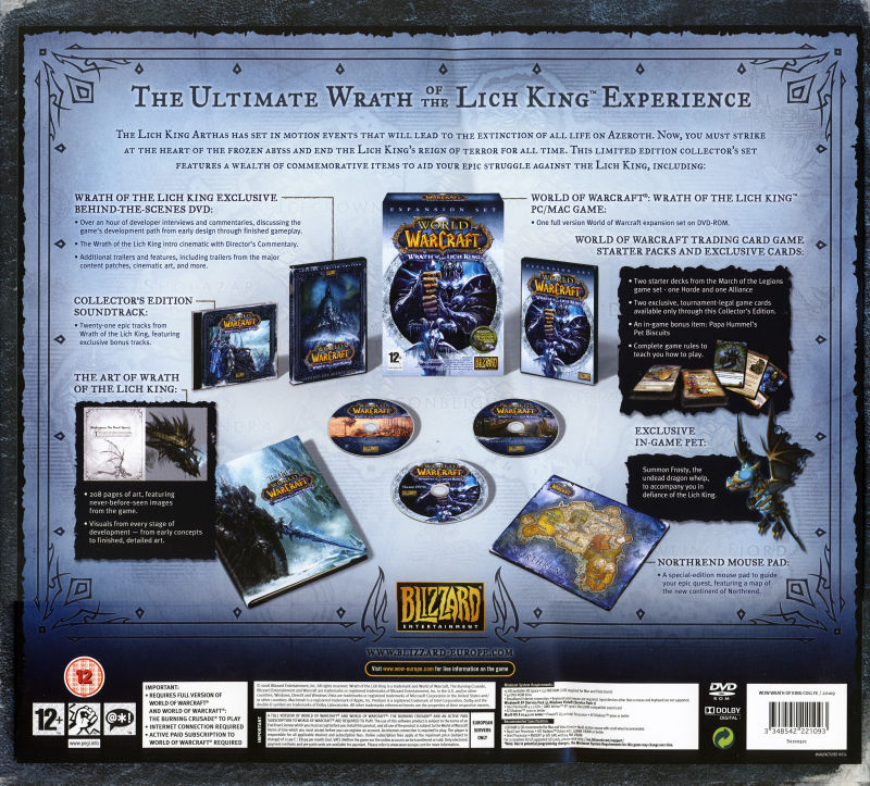 World of Warcraft: Wrath of the Lich King (Collector's Edition) Macintosh Back Cover