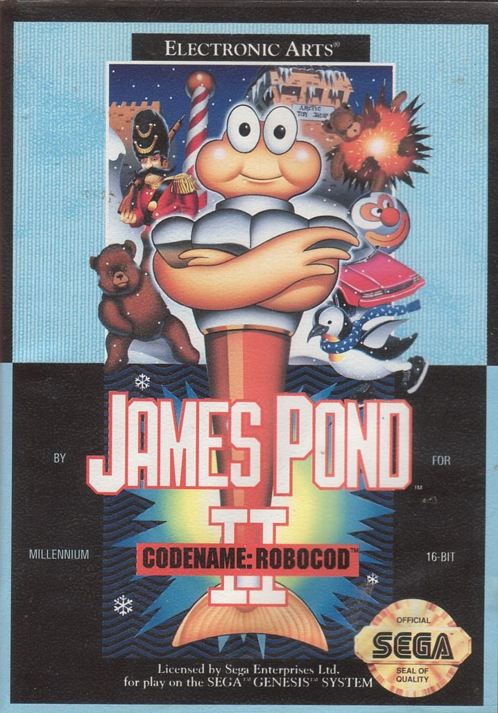 James Pond 2: Codename: RoboCod Genesis Front Cover
