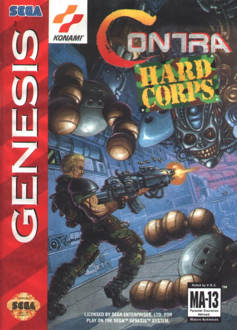 Contra Hard Corps Genesis Front Cover