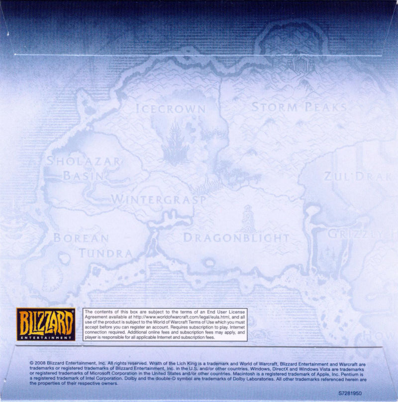World of Warcraft: Wrath of the Lich King Macintosh Other CD Sleeve - Back