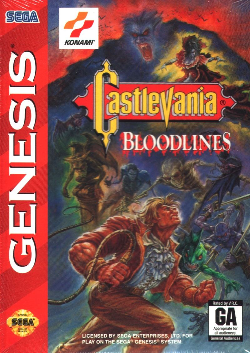 Castlevania Bloodlines Genesis Front Cover