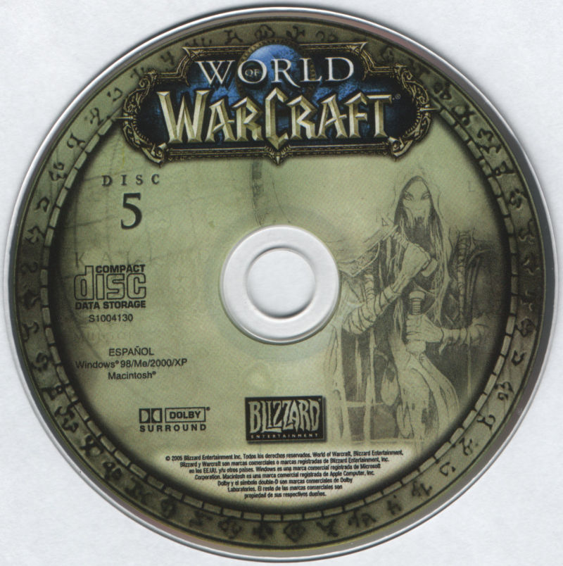 World of WarCraft Macintosh Media Disc 5