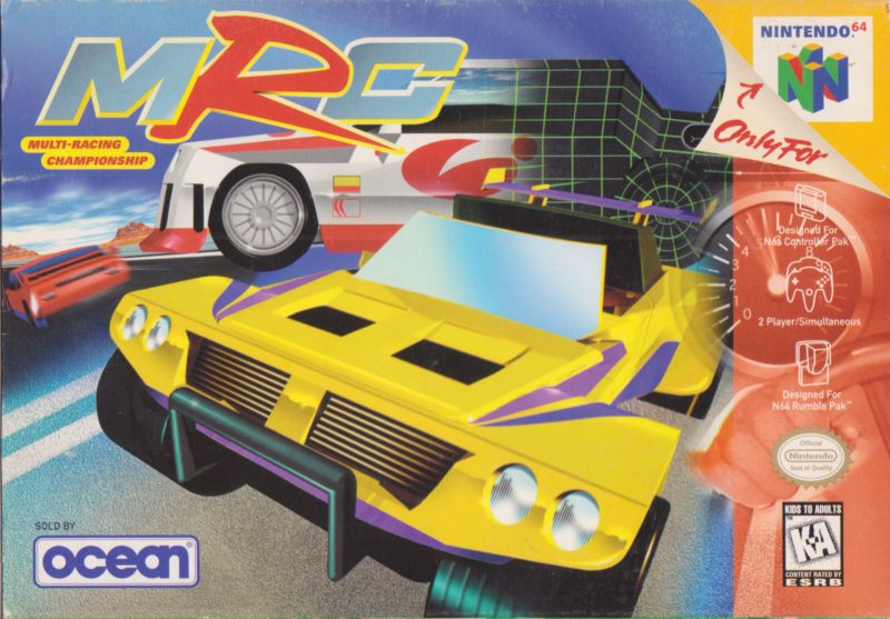 MRC: Multi-Racing Championship Nintendo 64 Front Cover