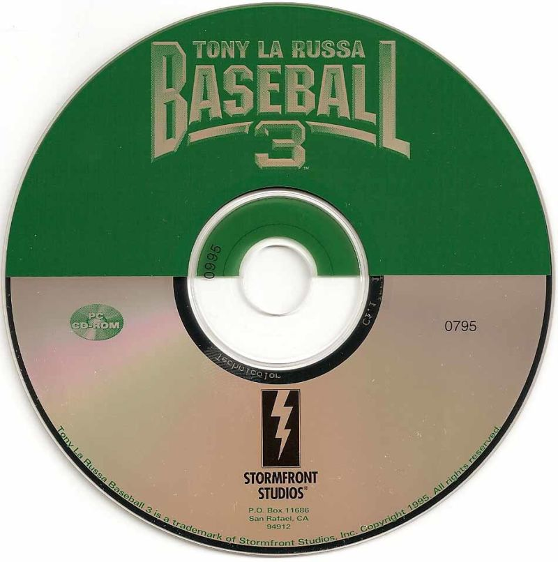 Tony La Russa Baseball 3 DOS Media