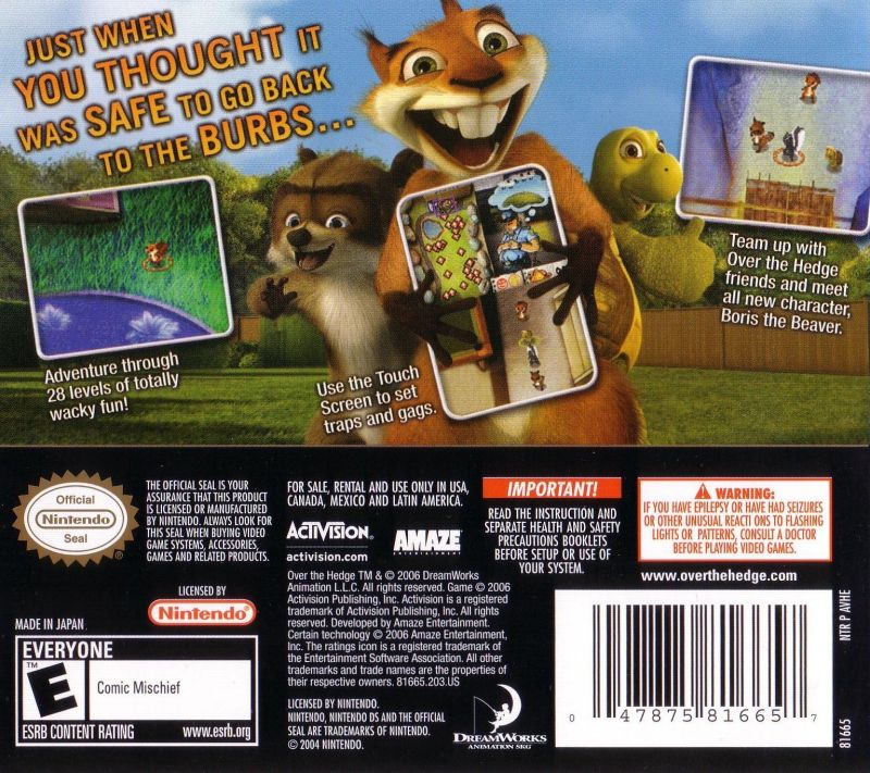 over the hedge hammy goes nuts nds