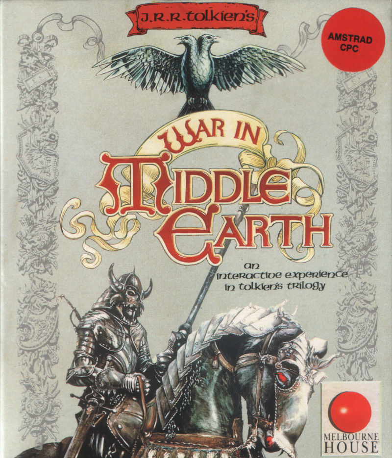 J.R.R. Tolkien's War in Middle Earth Amstrad CPC Front Cover