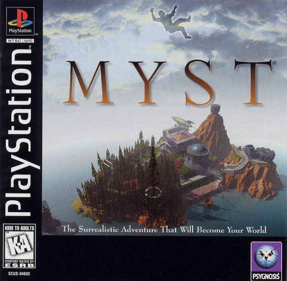 Myst PlayStation Front Cover
