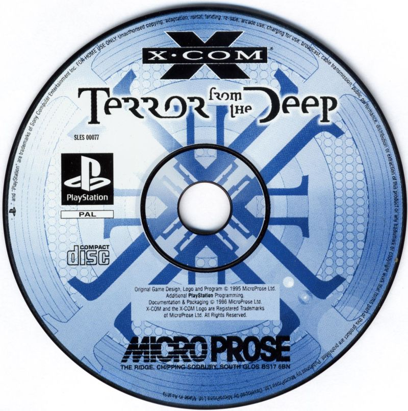 X-COM: Terror from the Deep PlayStation Media