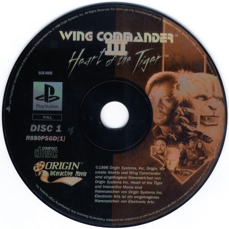 Wing Commander III: Heart of the Tiger PlayStation Media Disc 1