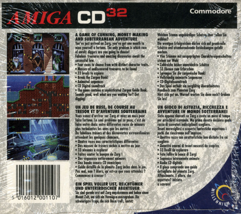 Diggers Amiga CD32 Back Cover
