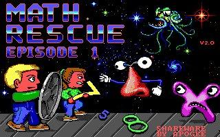 Math Rescue DOS Front Cover