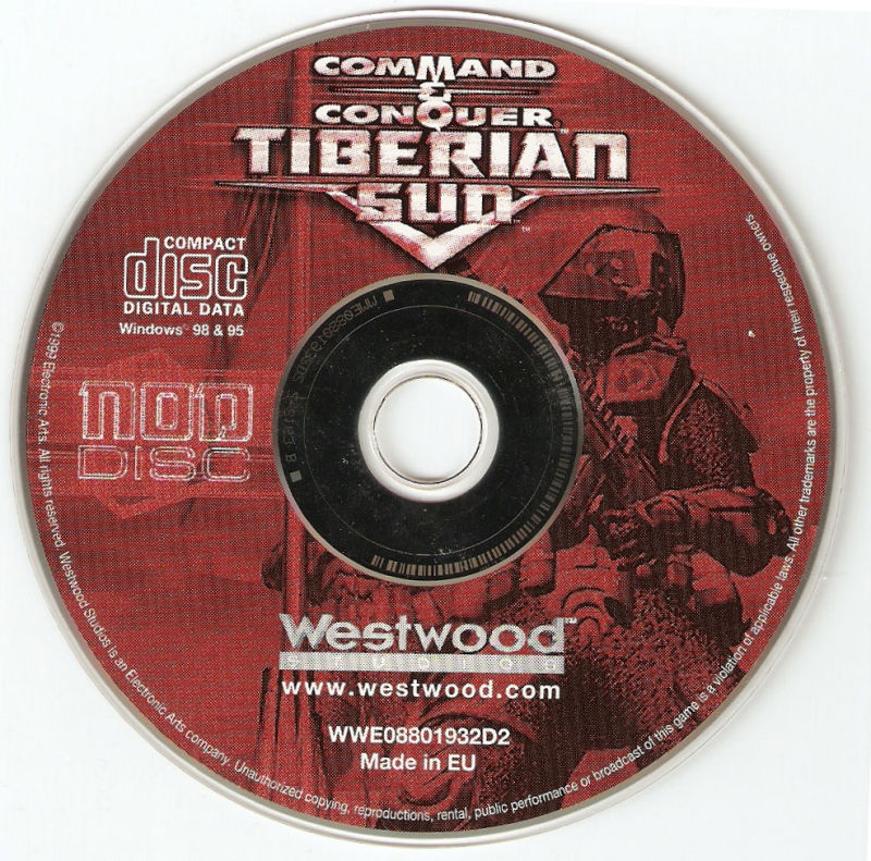 Command & Conquer: Tiberian Sun Windows Media Nod Disc