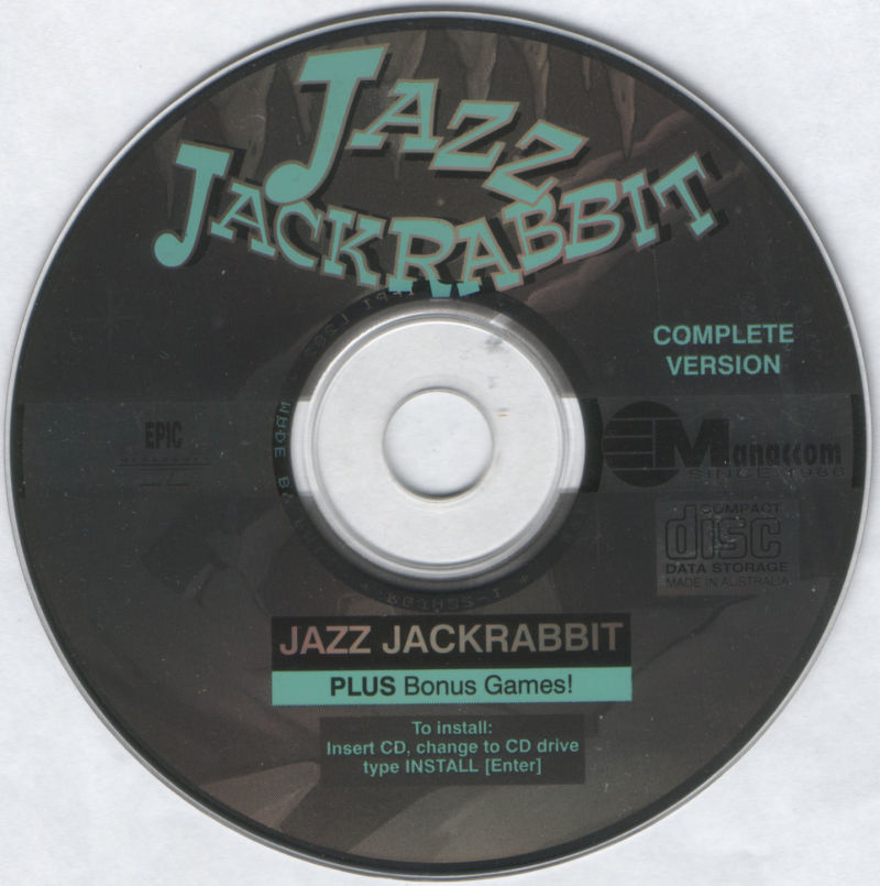 Jazz Jackrabbit CD-ROM DOS Media