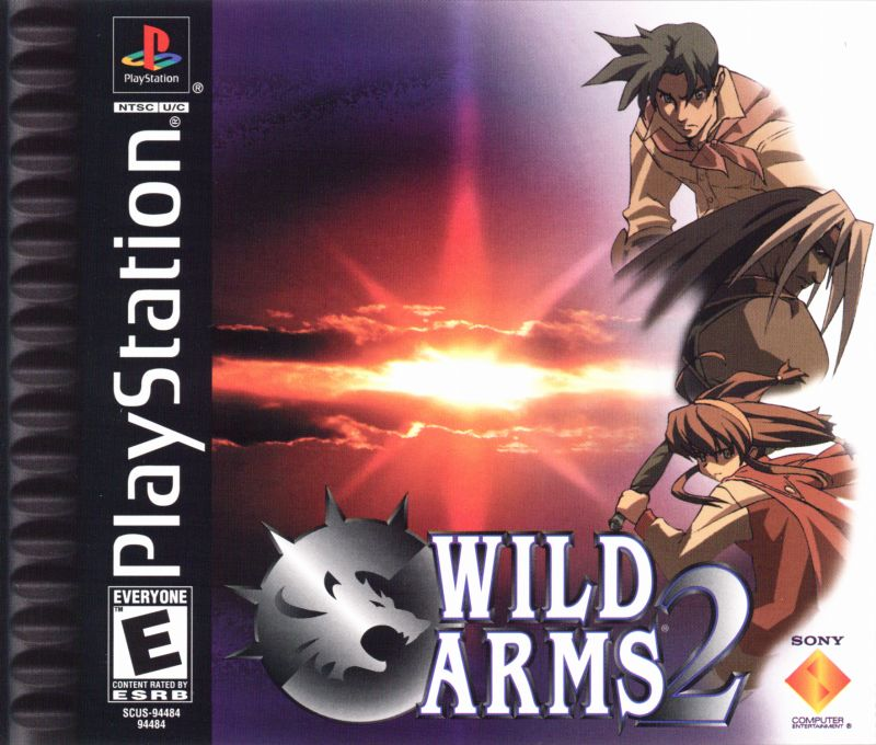 Wild Arms 2 PlayStation Front Cover