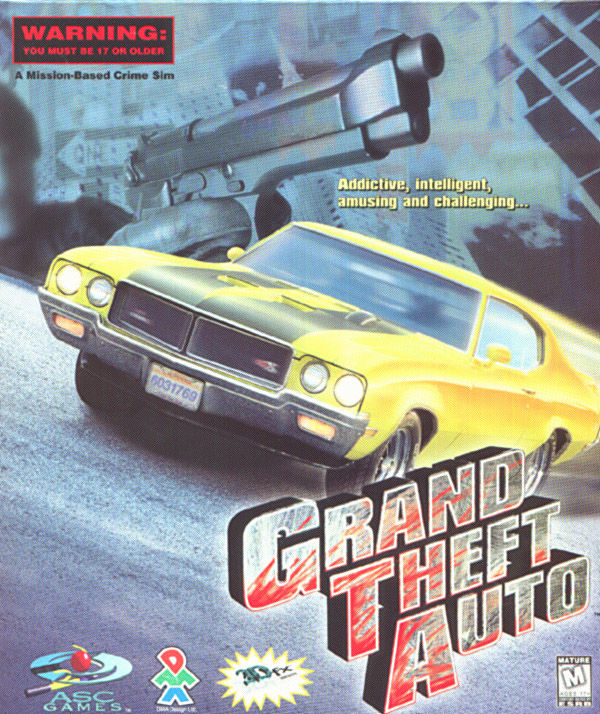 Grand Theft Auto DOS Front Cover
