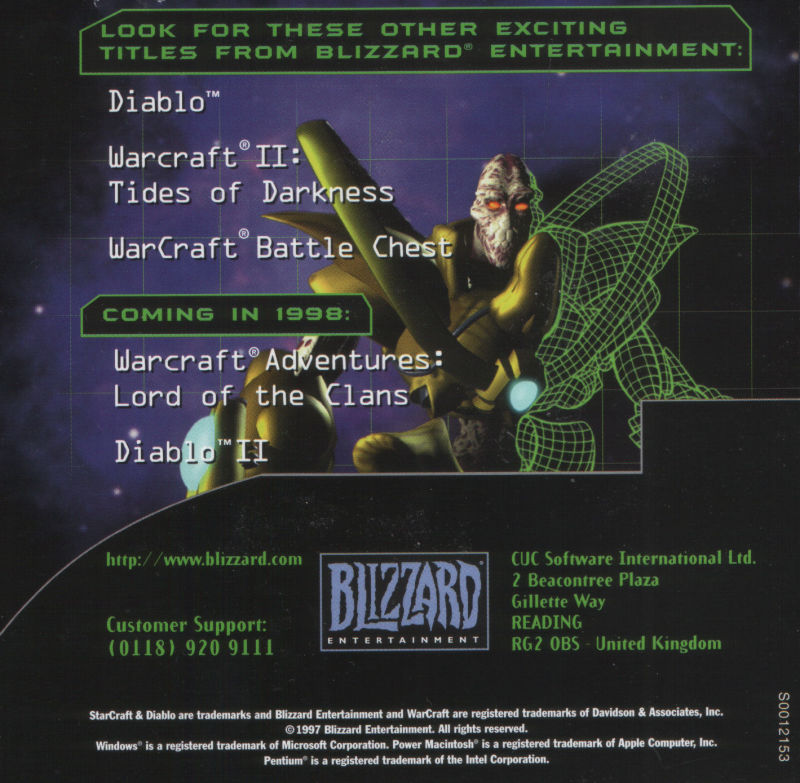 StarCraft Windows Other Jewel Case - Inside