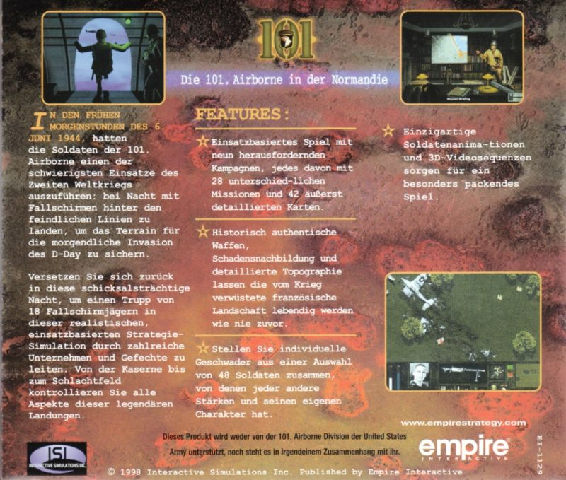 101: The Airborne Invasion of Normandy Windows Other Jewel Case - Back