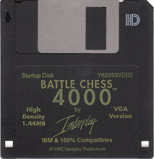 Battle Chess 4000 DOS Media Disk 1/3