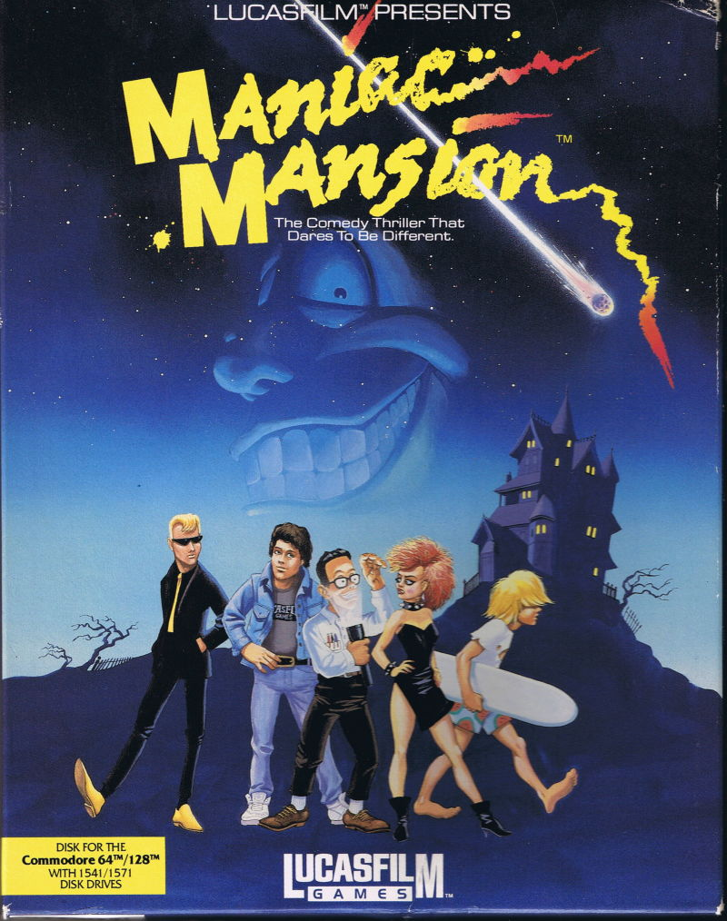 Maniac Mansion Commodore 64 Front Cover