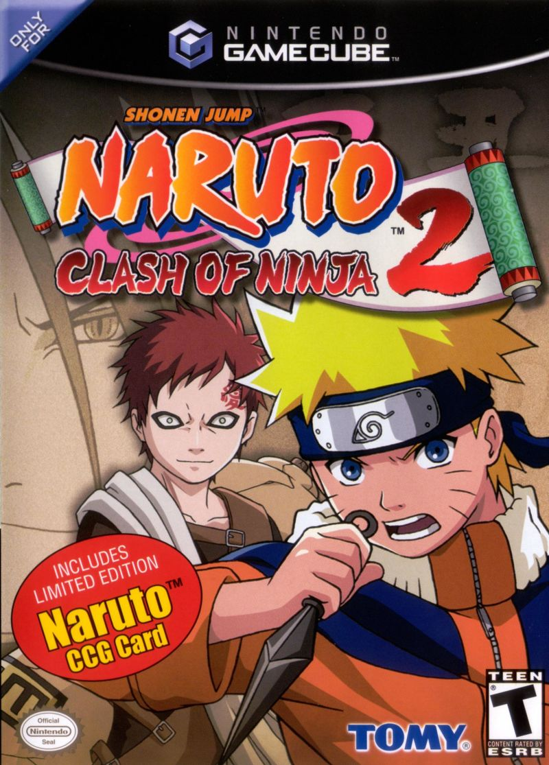 Naruto: Clash of Ninja 2 GameCube Front Cover