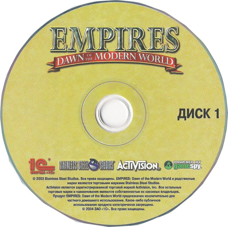 Empires: Dawn of the Modern World Windows Media Disc 1/2