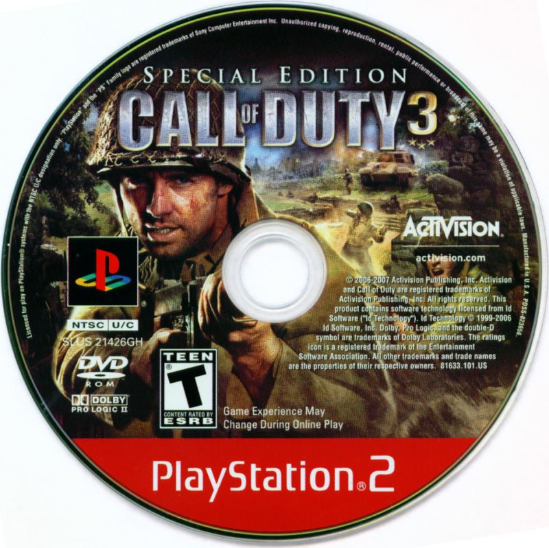 Call of Duty 3 (Special Edition) (2007) PlayStation 2 box ...