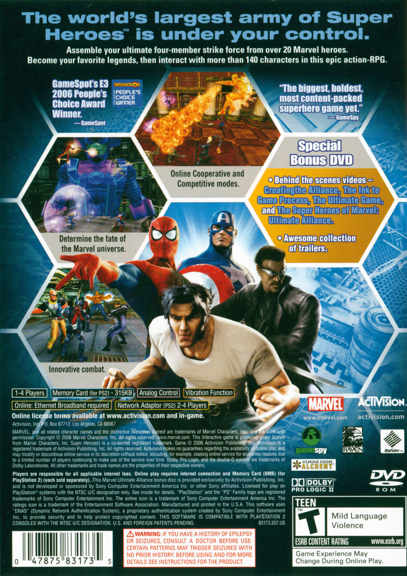 Marvel Ultimate Alliance Special Edition 2007