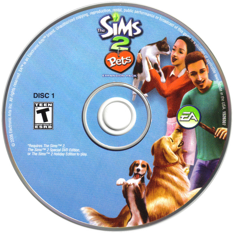 The Sims 2: Pets Windows Media Disc 1