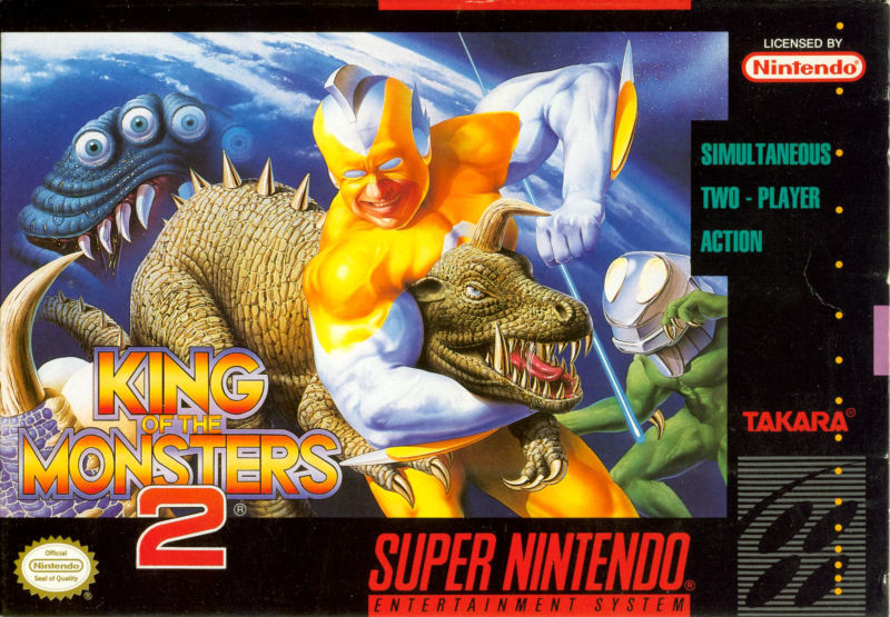 King of the Monsters 2: The Next Thing SNES Front Cover