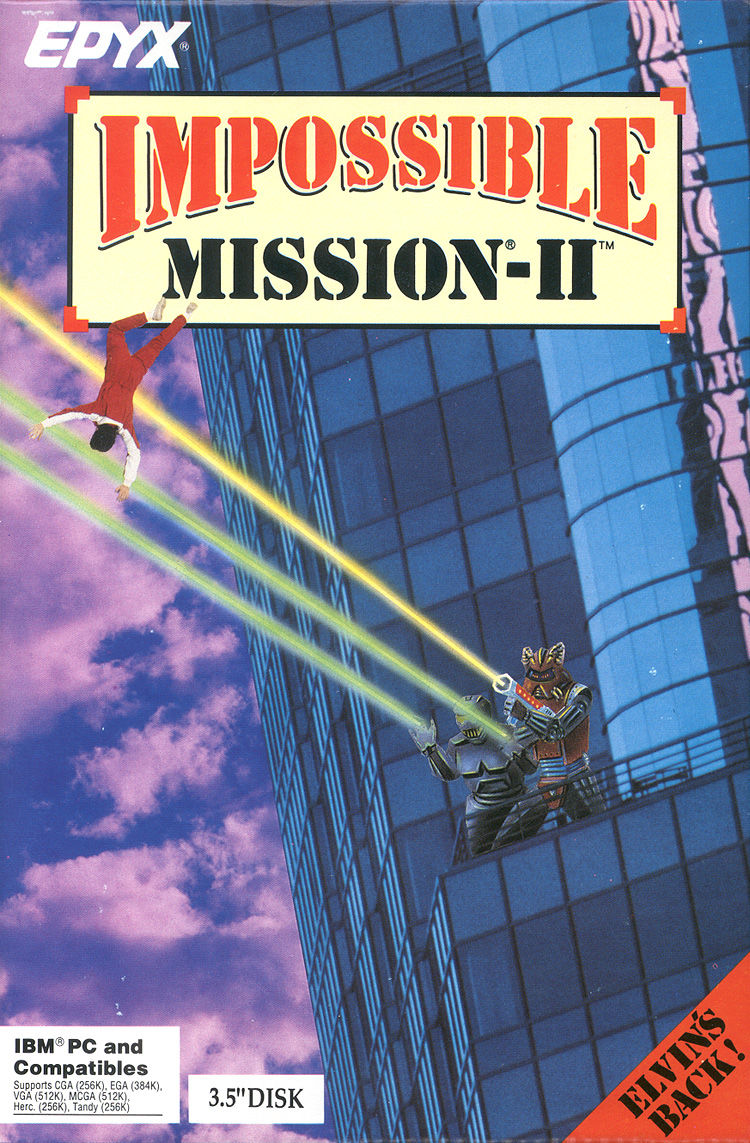 Impossible Mission II DOS Front Cover