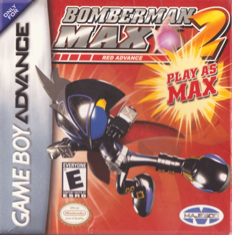 Bomberman Max 2: Red Advance Game Boy Advance Front Cover