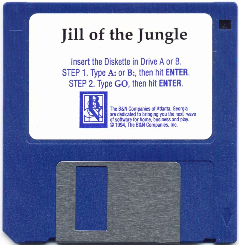 Jill of the Jungle DOS Media