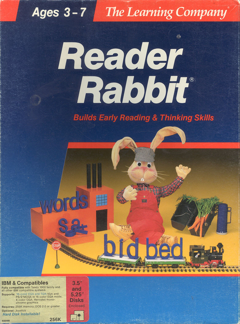 Reader Rabbit DOS Front Cover