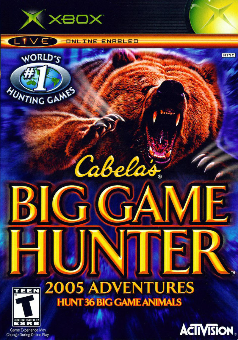 Cabela's Big Game Hunter 2005 Adventures Xbox Front Cover