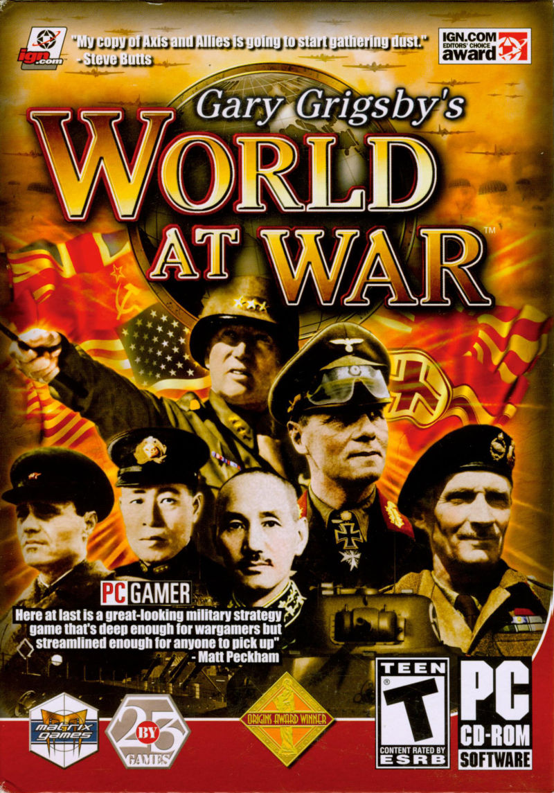 Gary Grigsby's World At War Windows Front Cover