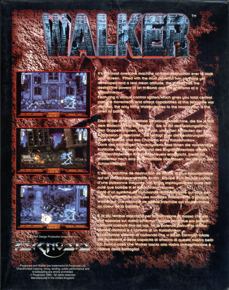 Walker Amiga Back Cover
