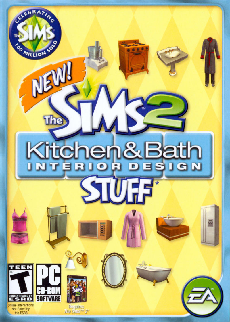 The Sims 2: Kitchen & Bath Interior Design Stuff Windows Front Cover
