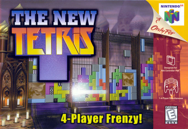 The New Tetris Nintendo 64 Front Cover