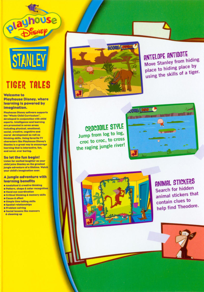 Playhouse Disneys Stanley Tiger Tales 2001 Windows Box Cover Art