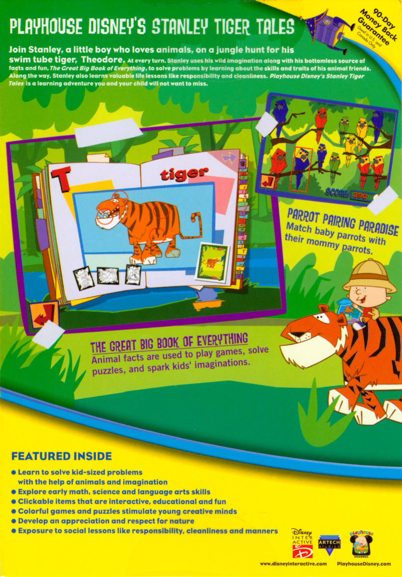 Playhouse Disney's: Stanley Tiger Tales (2001) Macintosh box